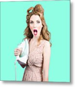 Burning Hot Fashion Metal Print