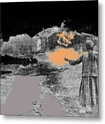 Burning House Destroyed By The Ss Soviet Union Number Two 1941 Color Added 2016 Metal Print