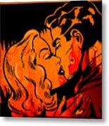 Burning Kiss Of Fire Metal Print