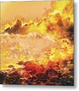 Burning Shore Metal Print