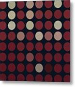 Burnt Dots Metal Print