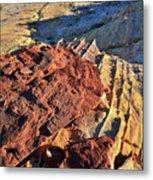 Burnt Orange Wave Of Sandstone In Valley Of Fire Metal Print