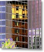 Burnt Out Reflection Metal Print