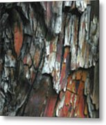 Burnt Tree Abstract Metal Print