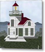 Burrows Island Lighthouse Metal Print