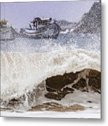 Burst Of Waves Metal Print