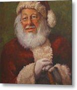 Burts Santa Metal Print by Vicky Gooch