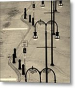 Bus Stop In Nashville Tn Metal Print