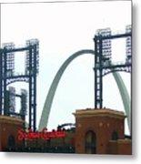 Busch Stadium With Arch Metal Print