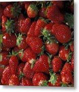 Bushel Of Strawberries Metal Print