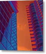 Business Travel, Architectural Abstract Metal Print