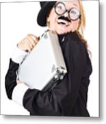 Business Woman In Disguise Metal Print