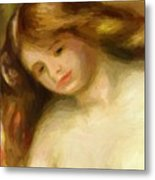 Bust Of A Young Nude 1903 Metal Print