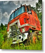 Busted And Rusted Metal Print