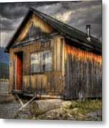Busted Shack Metal Print