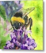 Busy Bumblebee Metal Print