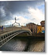 Busy Ha'penny Bridge 4 Metal Print