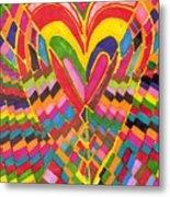 Busy Heart Metal Print
