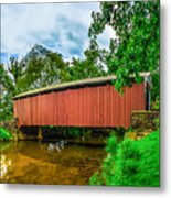 Butchers Mill Covered Bridge Metal Print