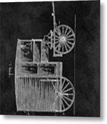 Butcher's Wagon Patent Metal Print