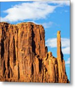 Butte And Clouds Metal Print