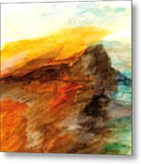 Butte At Sunset Metal Print