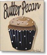 Butter Pecan Cupcake Metal Print