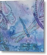 Butterflies And Dragonflies Metal Print