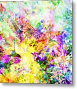 Butterflies And Flowers Iv Metal Print