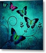Butterflies At Dusk Metal Print