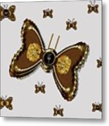Butterflies For The Worlds  Future Metal Print