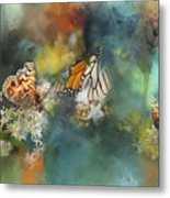 Butterflies On A Spring Day Metal Print