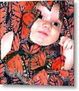 Butterfly Baby Metal Print