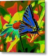 Butterfly Blues Metal Print