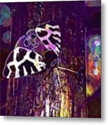 Butterfly Brown Bear Drawing Wing  Metal Print