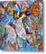 Butterfly Collage Metal Print
