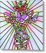 Butterfly Cross Metal Print