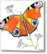 Butterfly Dressed For A Masquerade Ball Metal Print