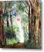 Butterfly Forest Metal Print