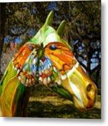Butterfly Horse Ocala Florida Metal Print