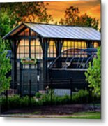 Butterfly House At Sunset Metal Print