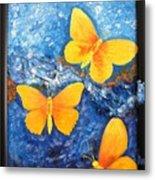 Butterfly In Blue 1 Metal Print