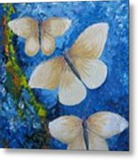 Butterfly In Blue 4 Metal Print