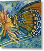 Butterfly In Ca Metal Print