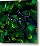 Butterfly In The Bush Metal Print