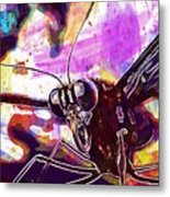 Butterfly Insect Eyes Probe  Metal Print