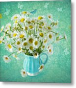 Butterfly Kisses And Flower Petal Wishes  Metal Print