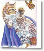 Butterfly Kitten Metal Print
