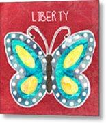 Butterfly Liberty Metal Print