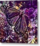 Butterfly Monarch Flower  Metal Print